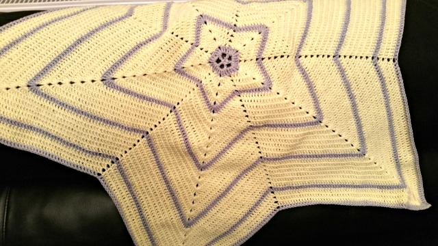 YellowGray Star blanket